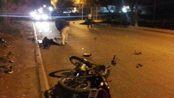 dos heridos graves tras el choque frontal de motos en valentina sur