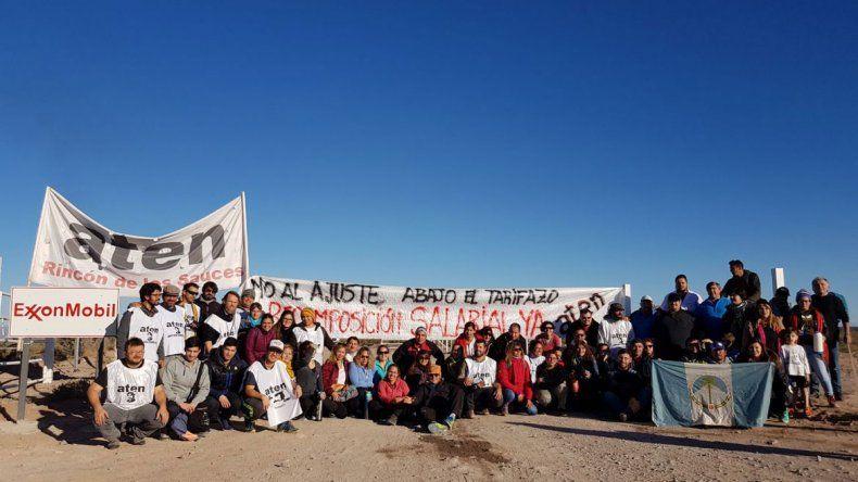 ATEN se manifestó en el acceso a un pozo petrolero en Rincón