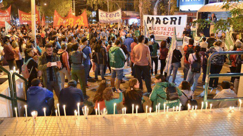 Neuquén se sumó a la marcha de velas contra los tarifazos