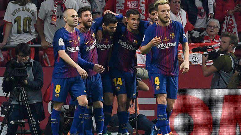 Barcelona vapuleó a Sevilla en la final de la Copa del Rey: 5 a 0