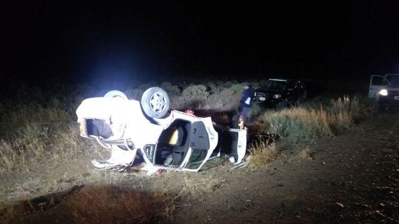 Un policía resultó herido en un vuelco en la Ruta 237