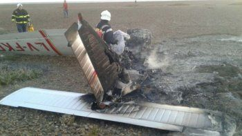 dos muertos por la caida de una avioneta en chubut
