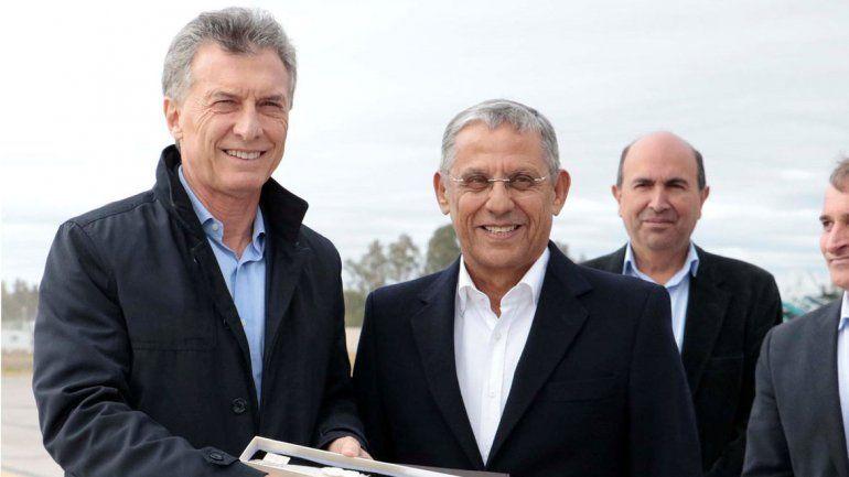 Quiroga le dio la bienvenida a Macri y lo distinguió como huésped de honor