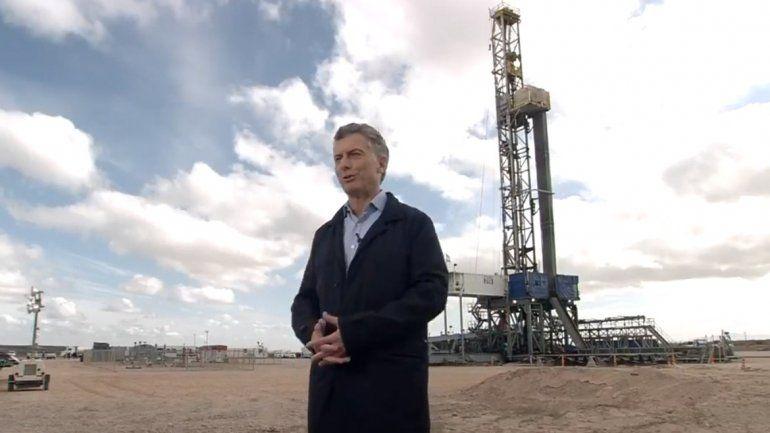 Desde Vaca Muerta, Macri llamó a consumir menos energía