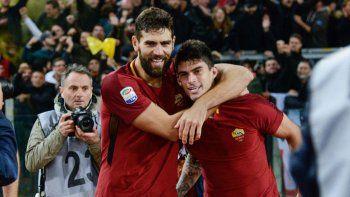 Perotti y Fazio buscan jugar su primera final de Champions League.