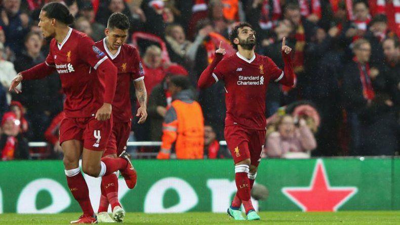 En un partidazo y con un Salah imparable, Liverpool goleó a Roma en Anfield