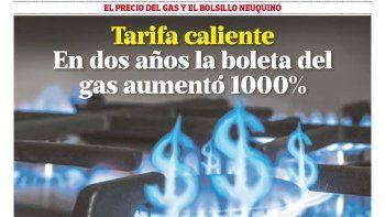 tarifa caliente: en dos anos la boleta del  gas aumento 1000%