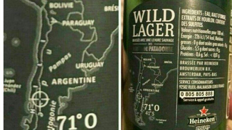 Para una conocida cerveza las Malvinas son inglesas