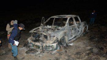 se les prendio fuego la camioneta y quemaron tres hectareas