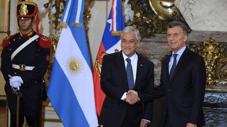 El presidente argentino y su par chileno se reunieron en la Casa Rosada y volvieron a sellar su vínculo.