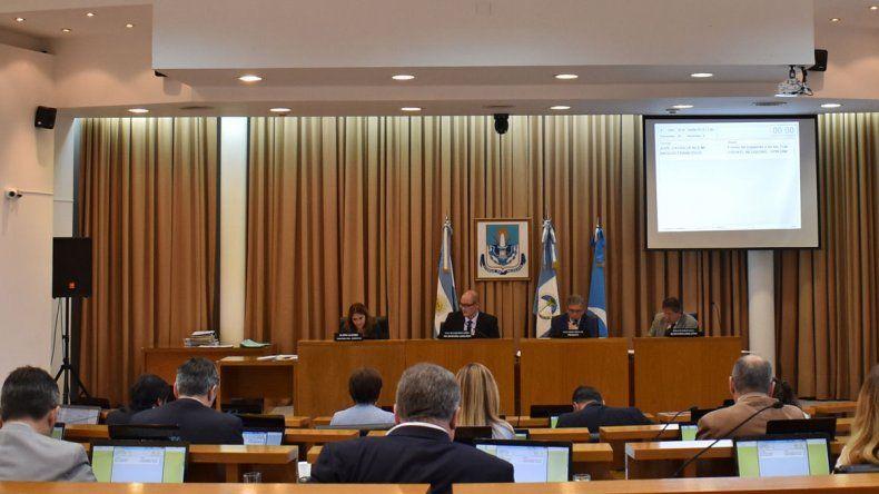 El Concejo Deliberante durante la sesión de ayer.