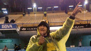 En La Bombonera hace 4 días en la victoria ante Newells, y anteanoche en su casa de Cipo sufriendo por la tele.