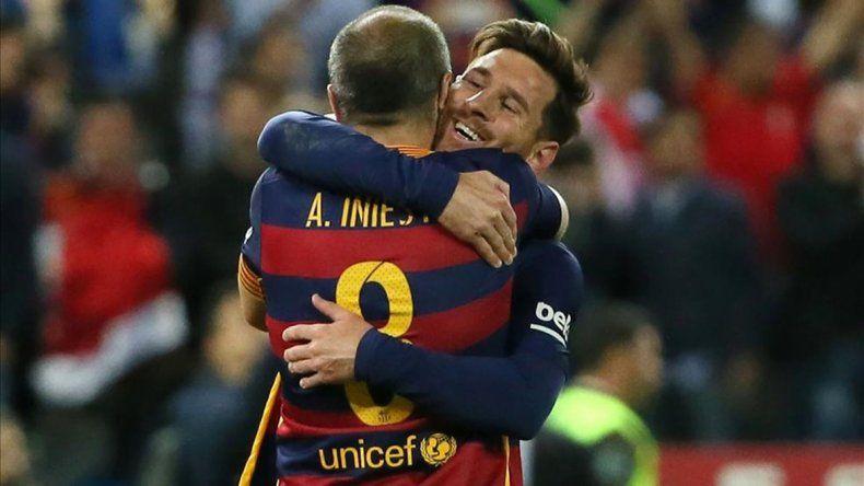 El mensaje de Lio Messi en la despedida de Iniesta