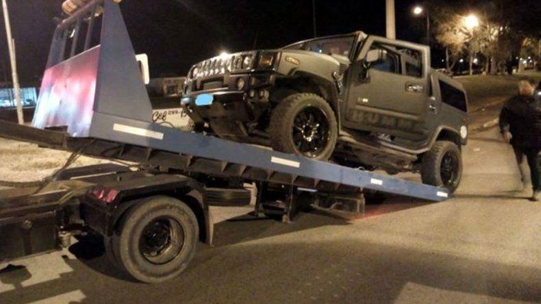 Aduana AFIP ordenó secuestrar la Hummer del conductor borracho
