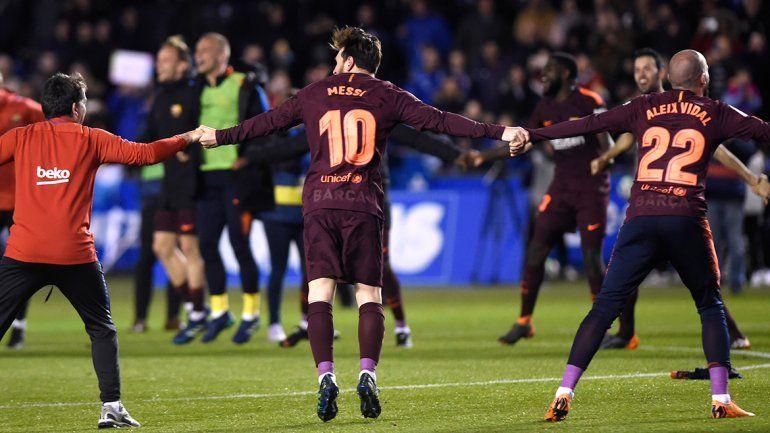 El divertido baile de Messi en el vestuario tras la consagración