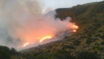 Brigadistas logran controlar un voraz incendio en Aluminé