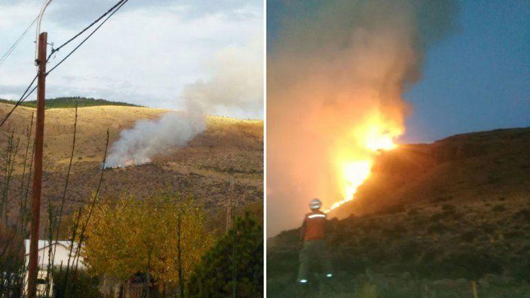 Bomberos y brigadistas trabajaron intensamente para evitar que el fuego se propagara.