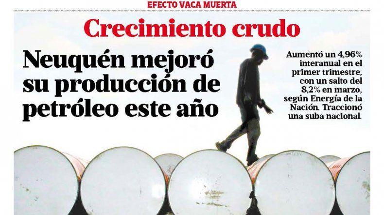 Crecimiento crudo: Neuquén mejoró su producción de petróleo este año