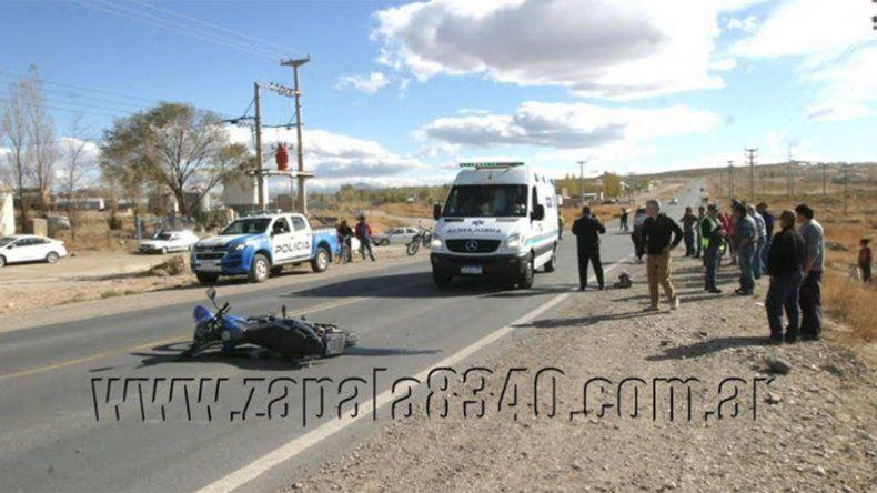 Zapala: dos heridos tras un grave accidente en el Acceso Forbat
