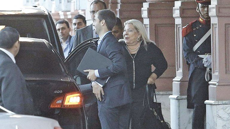 La diputada Elisa Carrió fue ayer a Casa Rosada. No se vio con Macri.
