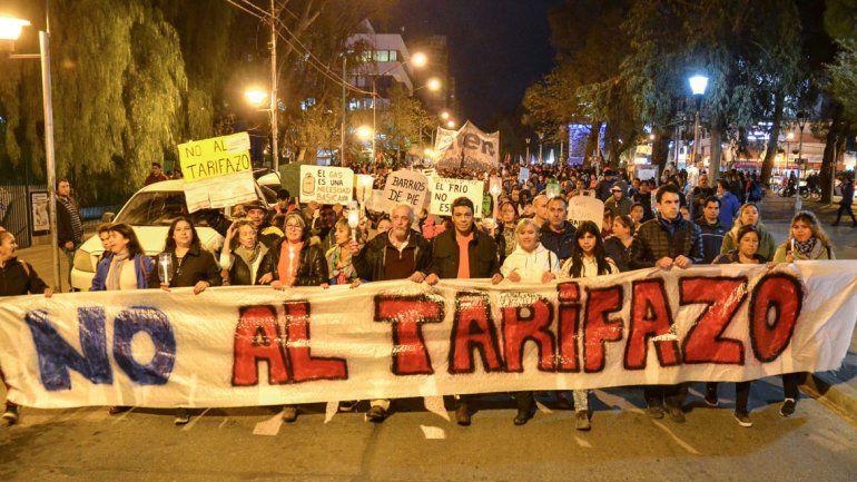 Marcharon contra el tarifazo de las facturas