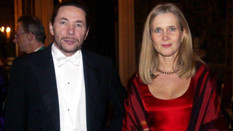 La académicaKatarina Frostenson y su marido
