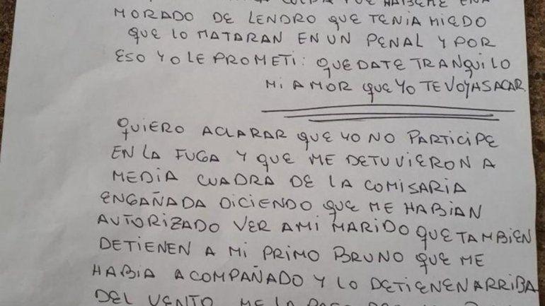 Qué dice la carta de la acusada de planificar el ataque a la comisaría