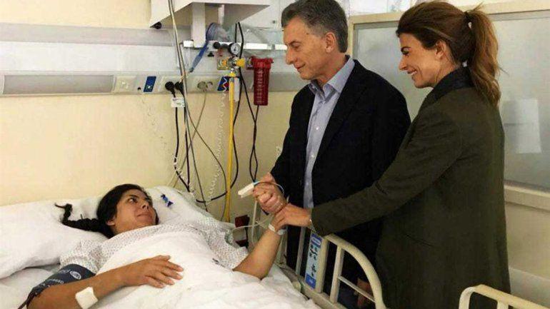 Macri visitó a la policía baleada en el ataque a la comisaría