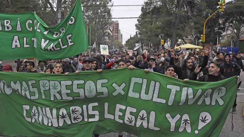 Marcharon por la despenalización  de la marihuana