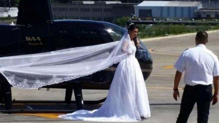 Iba a su casamiento en un helicóptero y tuvo un terrible accidente: sobrevivió y asistió a su boda