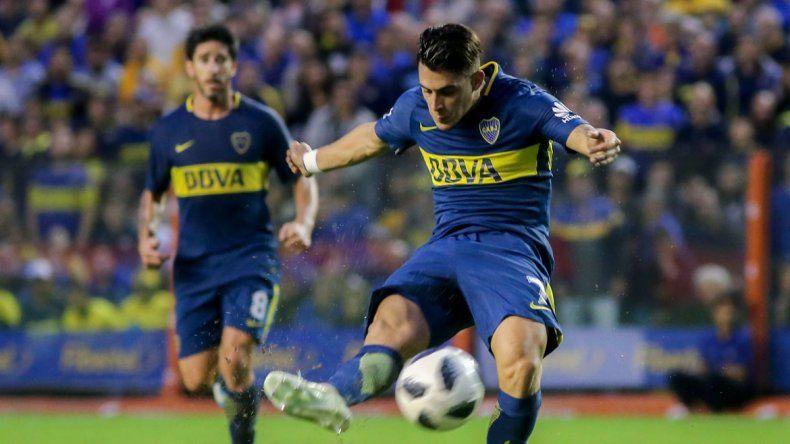 Cristian Pavón volvió loca a la defensa de Unión y fue ovacionado.