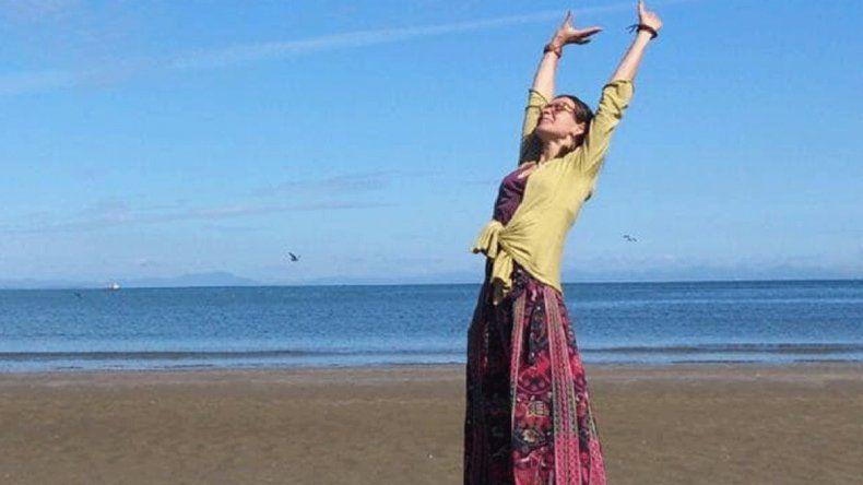 Liga Skromane viajó al país asiático para relajarse y hacer yoga