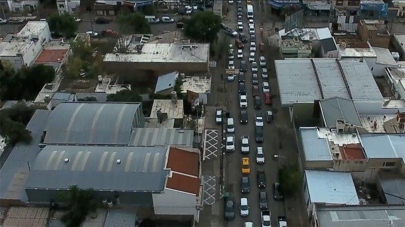 Mirá el caos en el tránsito por las obras en el bajo neuquino