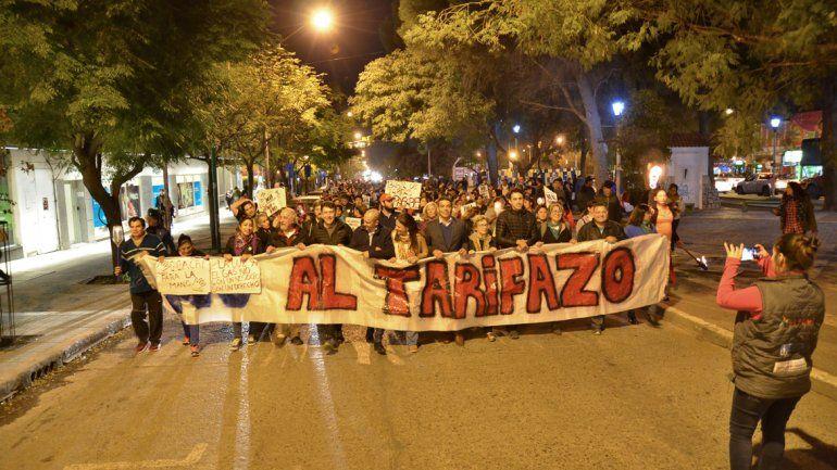 Tarifazo: la gente se hizo sentir en las calles de Neuquén