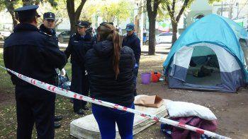 denuncia de abuso: allanan campamento mapuche