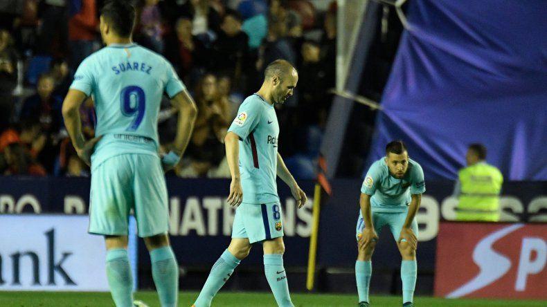Sin Messi, Barcelona perdió el invicto