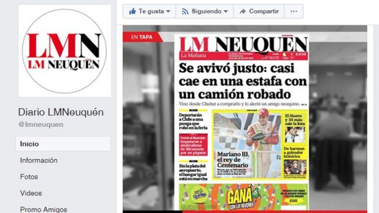 Cómo ver todas las noticias de LMN en Facebook