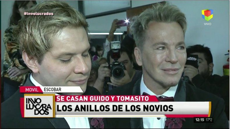 En medio de un escándalo: se casaron Tomasito y Guido Süller