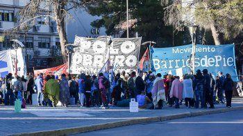 organizaciones sociales hicieron un frazadazo contra la suba del gas