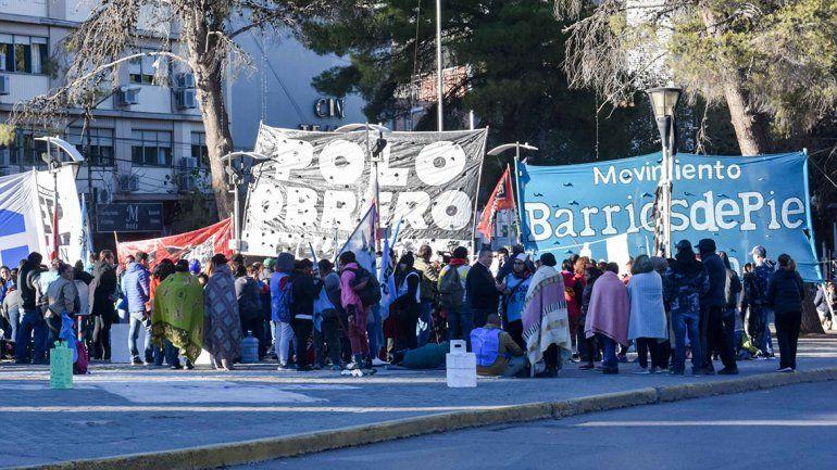 Organizaciones sociales hicieron un frazadazo en contra del aumento del gas