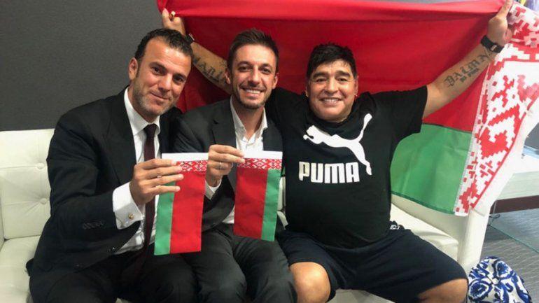 Maradona será presidente y mánager de un club en Bielorrusia
