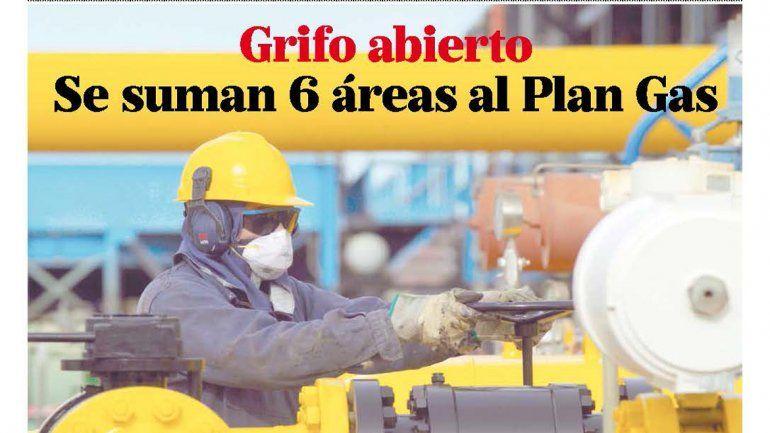 Grifo abierto: se suman 6 áreas al Plan Gas