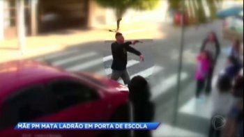 Homenajearon a la policía brasileña que mató a un delincuente