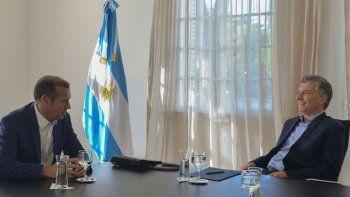 El gobernador y el Presidente, durante la reunión realizada en Olivos.