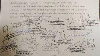 diputados repudiaron las amenazas de ate