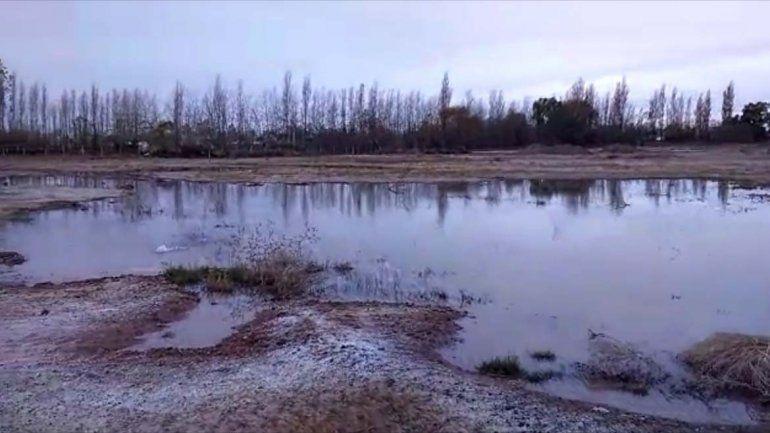 Una laguna artificial preocupa a los vecinos de Valentina Sur