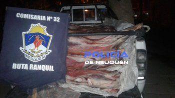 buta ranquil: los detuvieron por transportar 30 cabras faenadas