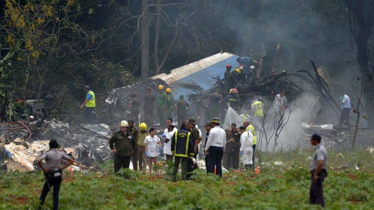Las fotos de la tragedia aérea en Cuba