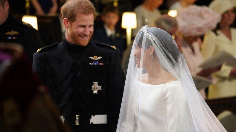 Boda real: el príncipe Harry y la actriz Meghan Markle dieron el sí