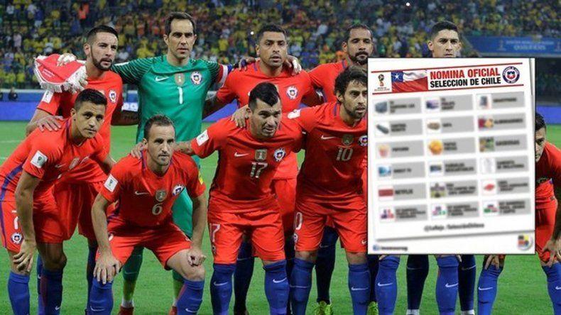 Publicaron una insólita lista de convocados de Chile para el Mundial